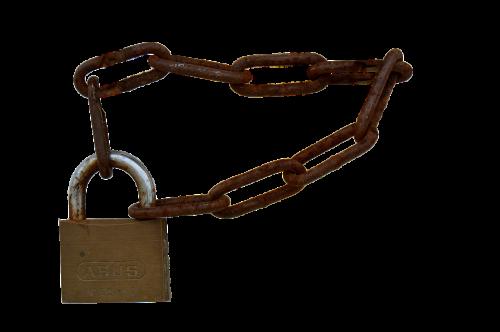 padlock chain castle