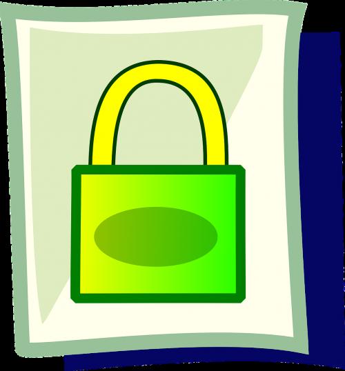 padlock lock green