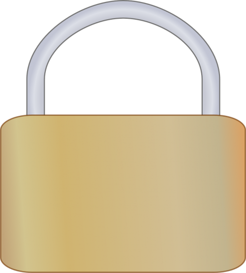 padlock closed gold