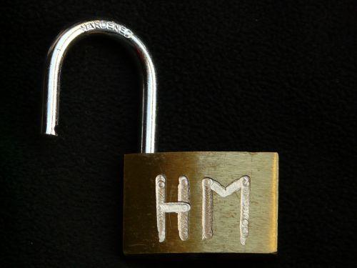 padlock metal metallic