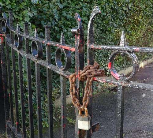 Padlocked Chained Gate