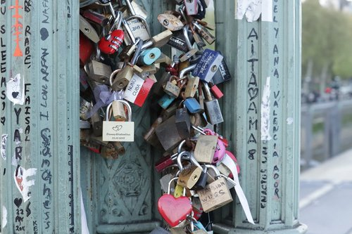 padlocks  bridge  love