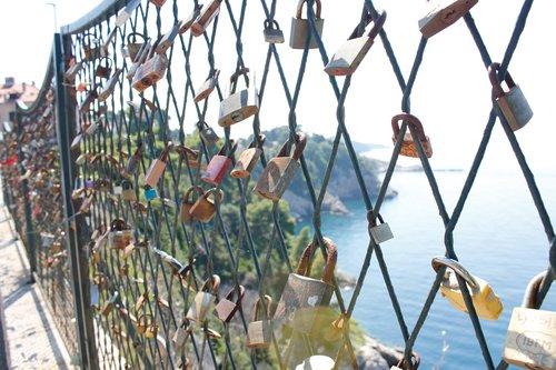 padlocks  fence  croatia