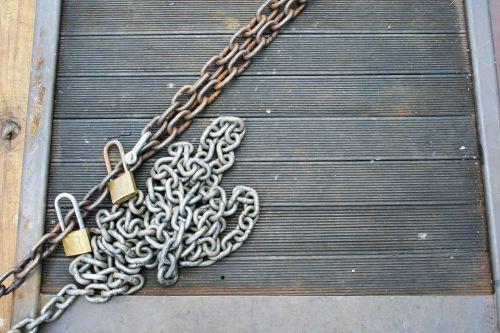Padlocks And Chains On Deck