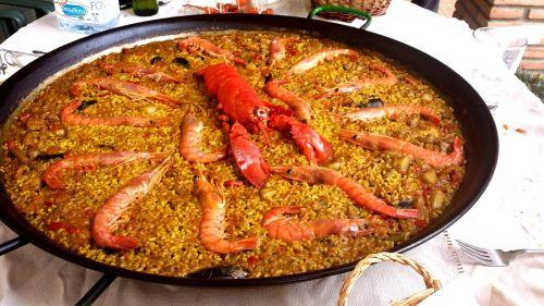 paella lobster rice