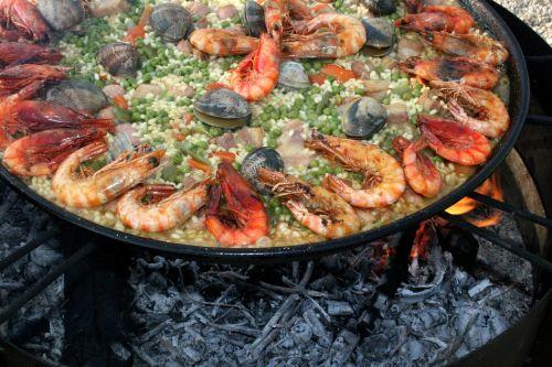 paella valencia seafood