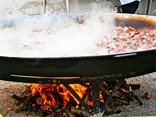 paella rice food