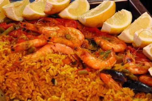 paella rice scampi