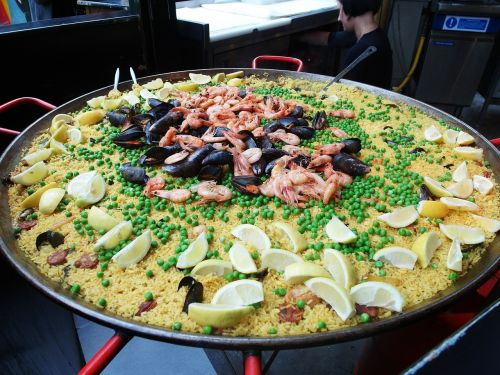 paella food borough market
