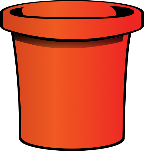 pail bucket orange