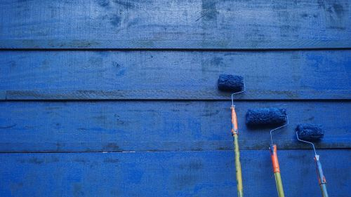 paint blue wall