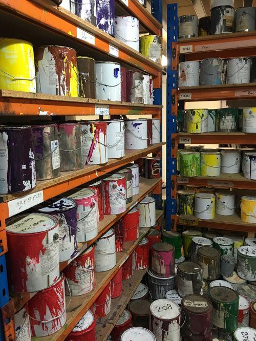 paint colour tins