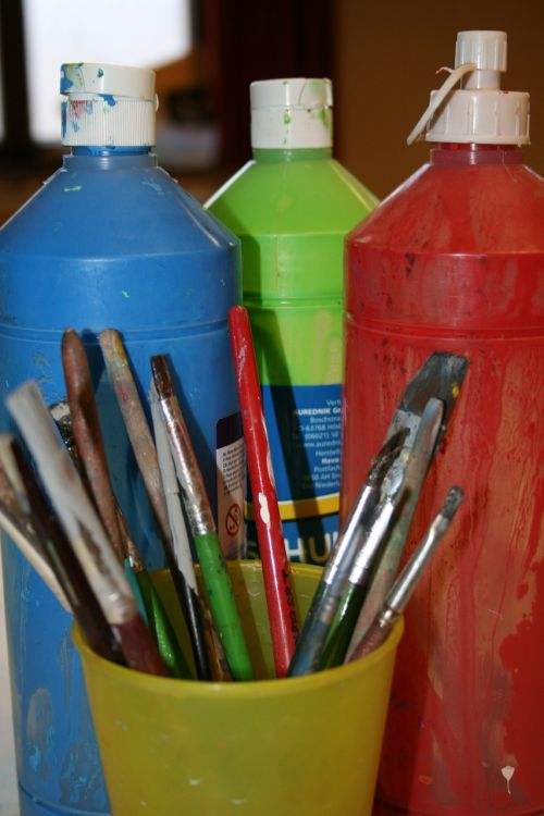 paint tusche indian ink brush