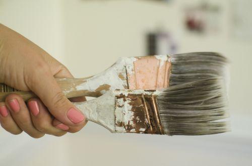 dažyti,dažų teptuku,balta