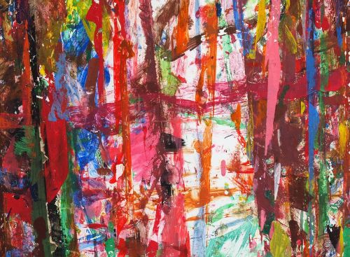 paint childrens art abstract