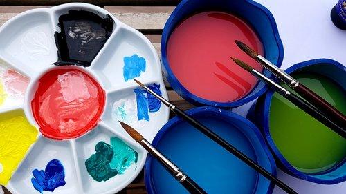 paint  acrylic paints  brush