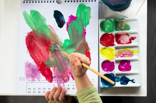 paint  child  acrylic paints