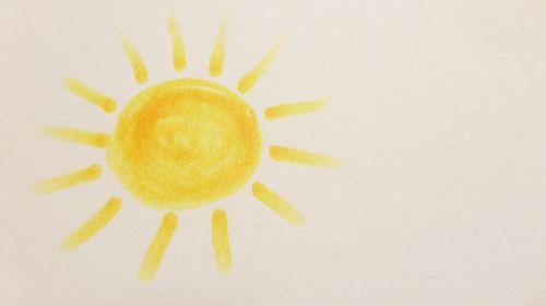 paint children drawing sun