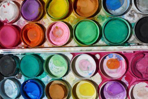 dažyti,menas,Dažų dėžė,mokyklos vaikai,kūrybingas,meno,spalvinga,amatų,akvarelė,šventė,paletė,atkreipti,kurti