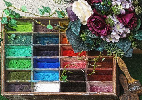 paint boxes pigments dry compositions
