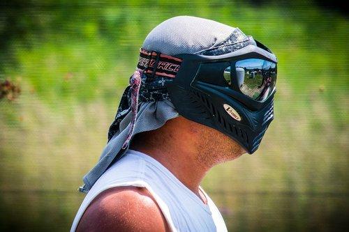 paintball  mask  chrome