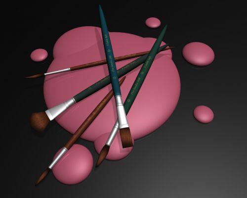 paintbrush splash brush