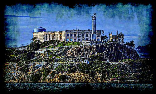 Painted Alcatraz Island