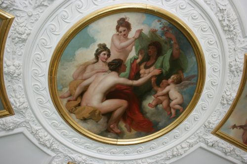 painted ceiling decorative plaster royal academy of art