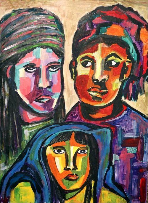 painted cultures acrylic paint canvas