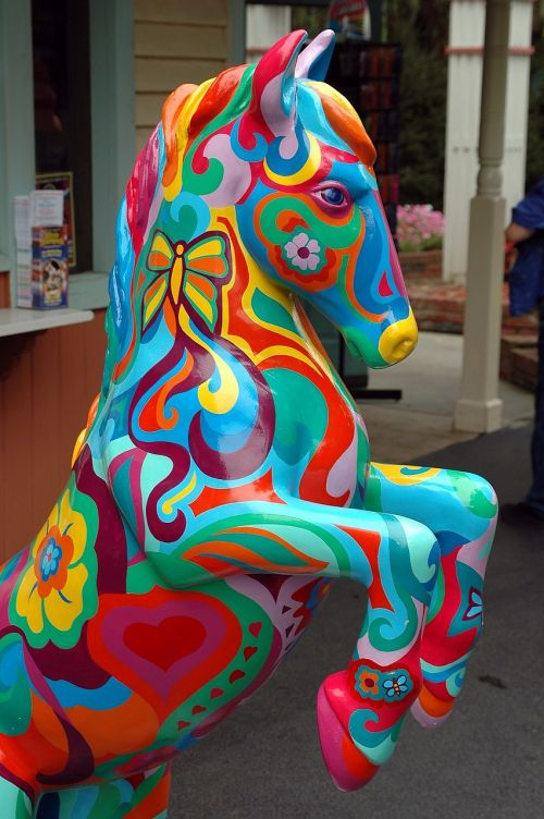 painted horse artistic colorful