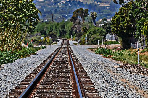 Painted Infinity Railroad Tracks