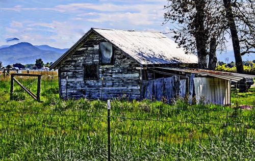 Painted Old Barn