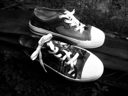Painted Sneakers Bw