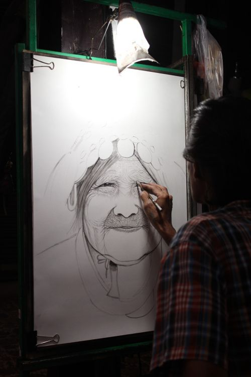painter sketch drawing lessons