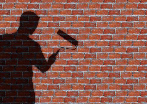 painter wall stones