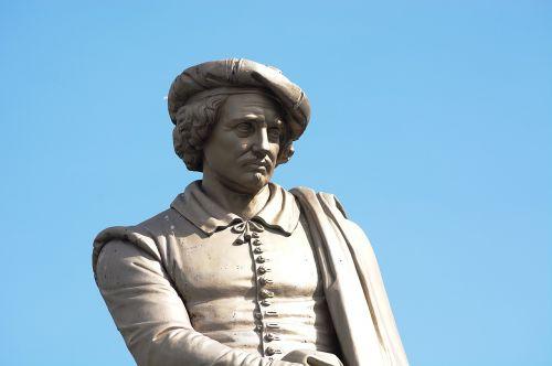 painter statue amsterdam