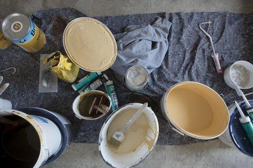 tapytojas, spalva, Sienos spalvos, kaušas