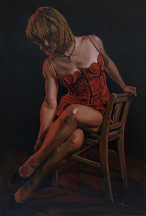 painting oil on canvas woman