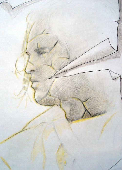 painting drawing man