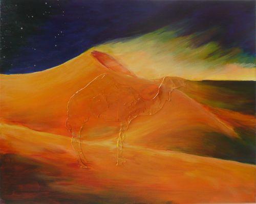 painting desert sand storm