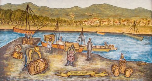 painting port 19th century
