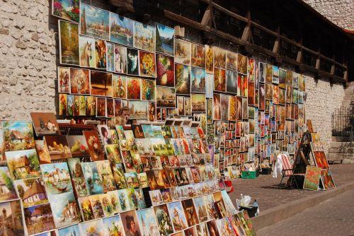 dažymas,menas,meno,prekyba gatvėmis,Krakow,Lenkija,turizmas