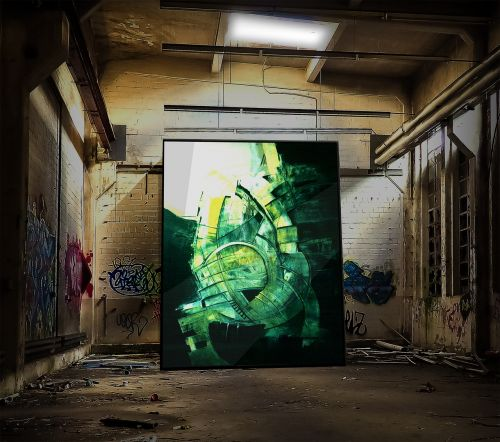 painting factory building ruin