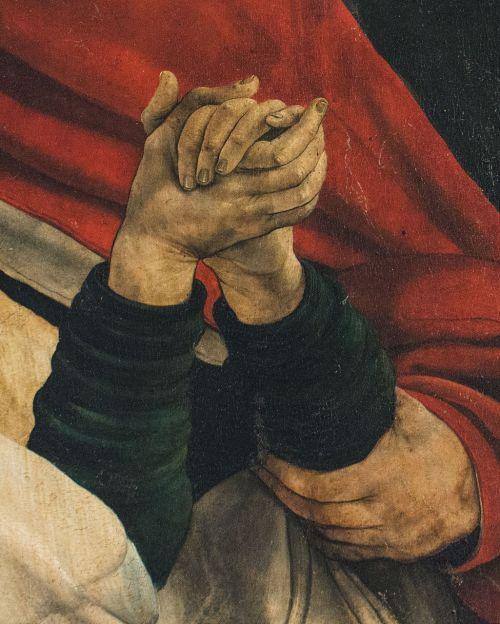 painting hand colmar issenheim altarpiece