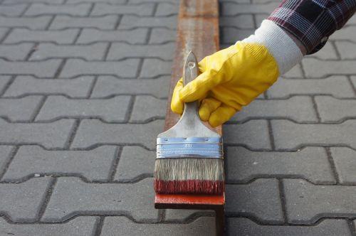painting glove work