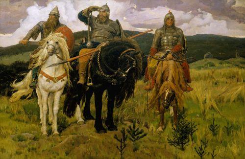 painting vasnetsov victor mihajlovich bogatyrs
