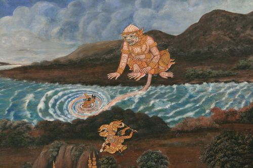 painting gods buddhist