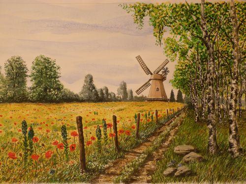 painting watercolour landscape