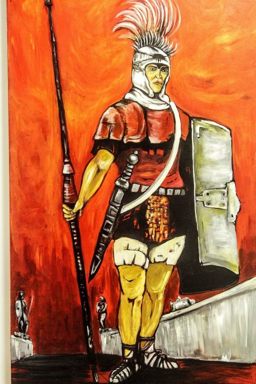 painting troy soldier