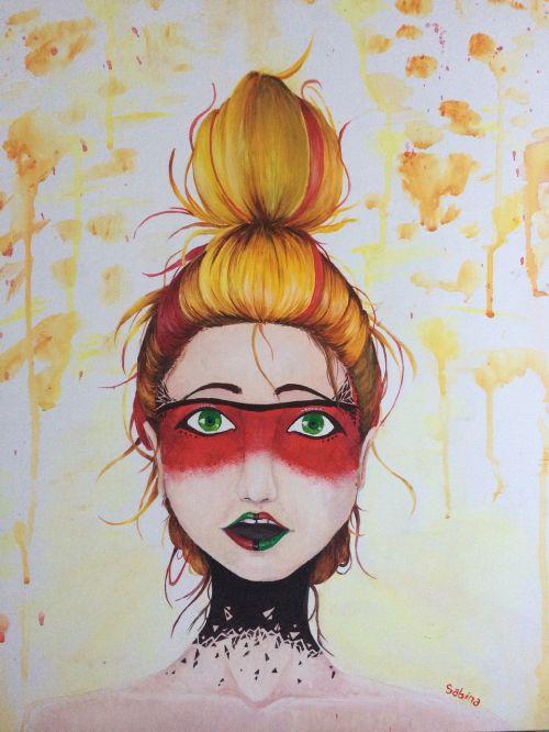 painting mask portrait
